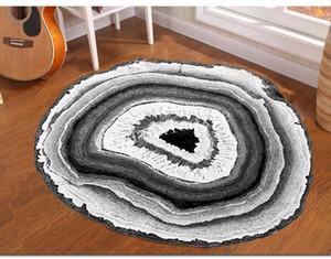 Chuanxiaoxie anillo circular impresión de alfombras Mediterráneo Estudio Nórdico Cesta colgante silla de la computadora del amortiguador de estar Sala de alfombras