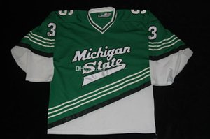 custom jersey 5XL 6XL Michigan State University Brody Brandstatter Hockey Jersey Embroidery Stitched Customize any number and name Jerseys