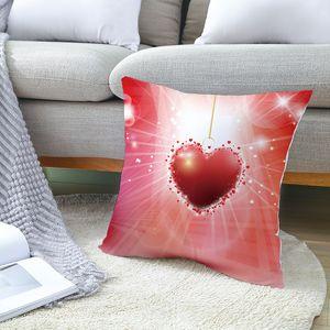 Vente en gros Valentine Pillowcases Arbre d'amour de la série Peach peau Taie d'oreiller Bonne Saint-Valentin Taie Canapé Coussin Case