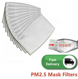 DHL Ship 24 Hours! 5 layers Activated carbon filter PM2.5 Anti Haze mouth Masks replaceable filters for Activate Carbon Mask filters FY7012