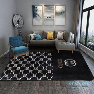 Мода Спальня Home Printed Коврики высокого качества Euramerican Дизайнер Нет скольжения Мат Environmental GG Pattern Классический Горячий Стиль Ковер