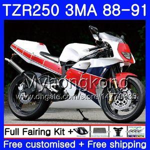 Corpo per YAMAHA rosso caldo TZR250RR RS RR YPVS TZR250 88 89 90 91 244HM.16 TZR-250 TZR250 3MA TZR 250 1988 1989 1990 1991 Kit carena