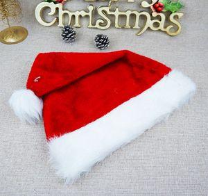 Adultos Quente Plush Red chapéu de Papai Noel Natal Cap Grosso Inverno de pelúcia chapéu de Papai Noel Natal Xmas decorações Chapéus LJJA3386-2