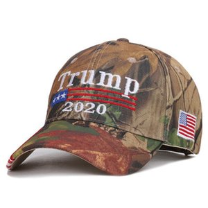 Donald Trump 2020 Baseball Cap Keep America Great Election Sport Camouflage Caps for Adult Sun Hat Embroidered Trump President Caps DHL