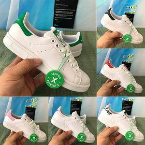 ستان سميث الرجال النساء أحذية الأساسية الأبيض الخضراء الأحذية الوردي الخصبة أحمر حذاء رياضة الأزياء مريحة الشقق عارضة الباليه المدربين