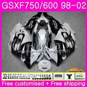 Kit For SUZUKI KATANA GSX750F GSXF750 White sale 1998 1999 2000 2001 2002 Body 3HM.8 GSXF 750 600 GSX600F GSXF600 98 99 00 01 02 Fairing