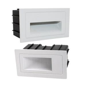 Exterior llevó Escalón Luz 5W / 10W impermeable blanca caliente empotrada en la pared del LED luz de la esquina Footlight Para paisaje Camino escalera AC85 ~ 265V