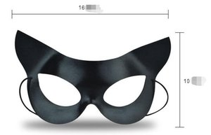 Halloween Mask Sexy Cat Mask Halbe Gesicht Cat Black Eye Mask für Venice Ball Parties in Europa und Amerika W1062