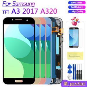 10PCS / LOT für Samsung Galaxy A3 2017 LCD A320 SM-A320F A320M A320Y LCD Display Touch-Screen-Analog-Digital wandler LCD-Bildschirm