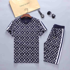 Mens Designers Fashion Tracksuit Letters Embroidery Luxury Summer Sportswear Short Sleeves Pullover Jogger Pants Suits O-Neck Sportsuit