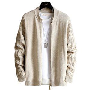 카디건 스웨터 남성 니트 코트 봄과 가을 트렌드는 새로운 스타일 슬림핏 잘 생긴 가운 'S 착용 J973 탑