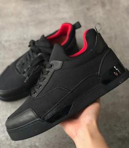 Black Men Sneakers inferiore rossa scarpa da basket neoprene calzino affiatato Mesh e vernice Runner piatte formatori con la scatola