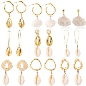 2020Popular Bohemian In Stil Shell-Ohrringe legieren Conch Shell Ohrringe Weibliche natürliche Shell Ohrringe für Frauen Frau Lieblinge