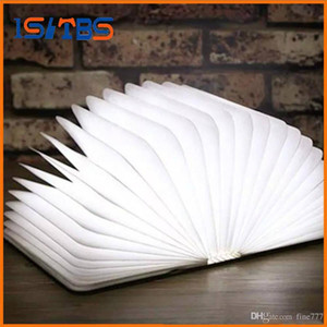 2017 New Generation Foldable Colorful USB Bedside Children LED Night Light 200LM Rechargeable LED Book Shape Night Lamp