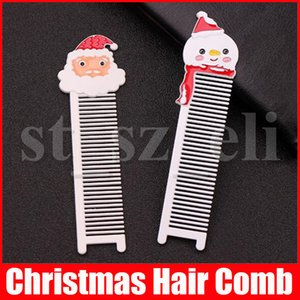 Weihnachtsgeschenke Netter Weihnachtsmann-Haar-Kamm-Bürsten Tragbare Schneemann-Muster-Taschen Hair Care Bürste 2 Styles