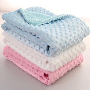 Bebê Peas Blanket Sleeping Bag Bedding Set Sofá Blanket crianças macias de espuma mantas Tapetes 102 * 76 centímetros