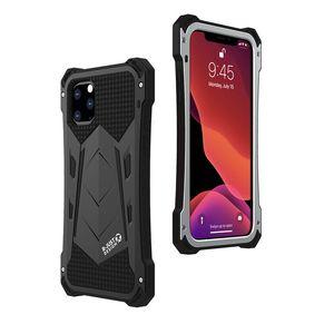 La caja del teléfono de I-JUST RJ19 para el iphone 11 pro max 7 8 Plus XR XS MAX Aluminio Luxury de silicona Caja de acero Cubierta de protección completa