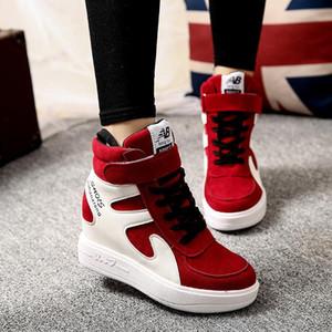 Primavera 2018 zapatos de las mujeres aumentaron los zapatos de lujo de plataforma plana lienzo interna zapatillas de deporte casual de las señoras de moda de alta calidad de la mujer