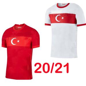 2020 Türkei Fußball Trikots Nationalmannschaft Herren CELIK Demiral OZAN KABAK Calhanoglu YAZICI Startseite Rote weg weiße Fußball-Hemd Thailand