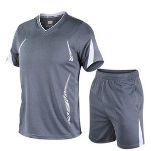 Designer Anzug Man Schnell trocknend Sommersportwear Sets Fitness Striped Art und Weise 2pcs im Freien Shorts Set Mens Mann-Marken-Kleidung