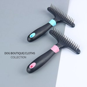 Pet Brush Dog Cat Pettine Capelli lunghi Capelli corti Dog Grooming Deshedding Edge Tool dog brushes knot open comb