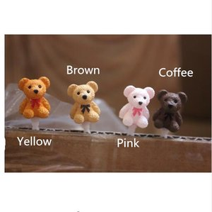 Dust Cute little Teddy bears shape dust 3.5mm earphone plug for all cell phones
