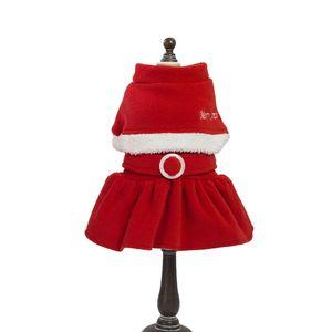 2019 Christmas Pet Dress Decoration Pet Dog Cat Winter Warm Coat Costume Apparel Red Dropship Clothes Accessories HOT SALE #0808