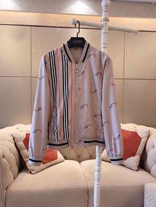 das mulheres Jackets outono e inverno nova algodão solto listrado carta de impressão jaqueta moda casual estilo Inglês camisa com capuz authenticN Europeia