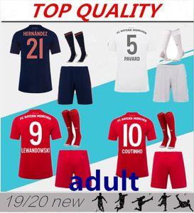 2019 2020 Bayern Munich kits de football jersey 19 20 Maillots de footbal PAVARD LEWANDOWSKI MULLER set chemise COUTINHO de football