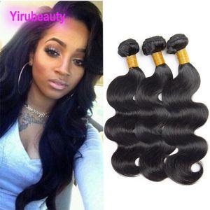 페루 처녀 머리 3 번들 바디 웨이브 9A 도매 인간의 머리 자연 블랙 Yiruhair 8-30 인치 머리 확장 직조 바디 웨이브