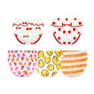 Bebê Cueca criança Meninas Cotton Panties verão underwear bonito para o infante recém-nascido Pão bebê Tampa Diaper Pants Briefs NP011