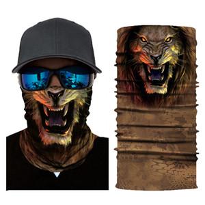 Animali Stampa mascherina mascherine Sciarpa copertura trasparente UV di protezione solare Passamontagna Bandane Face Magic Dust vento fascia Ciclismo Motociclismo partito