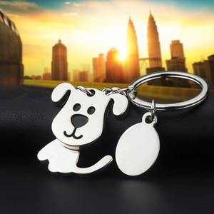 Lovely Dog Chaveiros criativa engraçado agradável Movendo Cadeia Cat Chefe Pendant Chaveiro Chaveiro Key Fob Titular Promoção Presentes Moda com OPP Bag