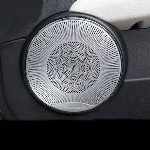 Araba Styling 4adet Araç Ses Hoparlör Araç Kapı Hoparlör Trim Kapak Sticker için Mercedes Benz C sınıfı w204 c180 c200 2008-2014 Aksesuar