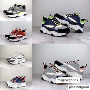 new 3D reflective canvas and calfskin sports shoes from Europe Trendy fashion sports B22 men's technical casual shoes