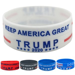 5 style Trump Silicone Wristband Rubber Support Bracelet Bangles Make America Great Donald trump 2020 Jewelry Party Favor bracelet JJ572