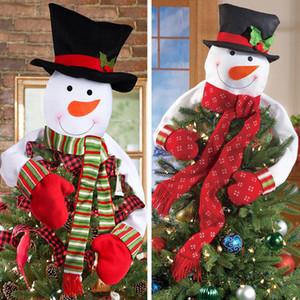 Decoraciones de Navidad Muñeco de nieve Árbol Sombrero Top Star Xmas Festival Party Decoración para el hogar Envío gratis 2 Estilo XD21102
