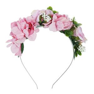 Haimeikang Bonito Trevos Flor Guirlanda Cabeça Moldura Hairband para Meninas Mulheres Flores De Tecido Coroa Headband Do Cabelo Acessórios