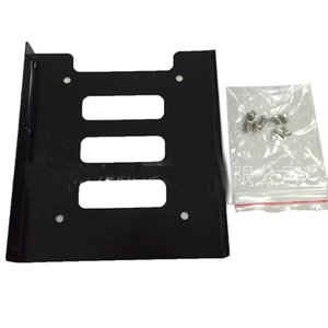 Professional 2.5 Inch To 3.5 Inch SSD HDD Metal Adapter Rack Hard Drive SSD Mounting Bracket Holder For PC Black