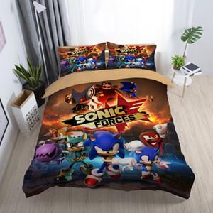 Sonic Forces Bettwäsche für Kids Classic Cartoon Popular Bettbezug King Size Queen-Twin Volleinzeldoppelbett-Abdeckung mit Pillowcase
