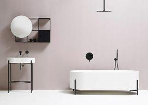 Black Brass Salle de douche Set mur ou au plafond 8/10/12 pouces Ultrathin pluie Pomme de douche Robinet de baignoire en PVC Tuyau