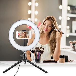 Dimmable LED USB alimenté selfie Annulaire lampe de maquillage Coiffeuse Vanity lumière Miroir pour vidéo éclairage Live Photo Beauty I408