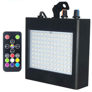 Super-Bright RGB Strobe Light 25W 108 SMD5050 LED Stage Effect Auto Sound Activated Party Dj Discover Ktv Stage Lights