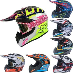 FOX moto hors route VTT casque moto casque équitation DH casque de course de descente professionnel avec des lunettes