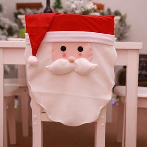 DIY Party Chair Decor Cover Christmas Decoration Set Snowman Restaurant Scene Dress Up Christmas Festival Party Supplies