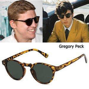 DPZ мода Григорий Пек стиль круглые заклепки солнцезащитные очки старинные заклепки прохладный бренд дизайн солнцезащитные очки UV400