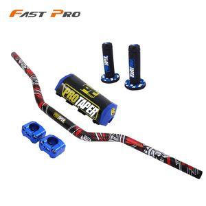 Motorrad-28mm Lenker mit Handgriff Griff Fat Bar Dirt Bike Motocross Für YZ YZF WR WRFR 125 250 400 450 426 CRF