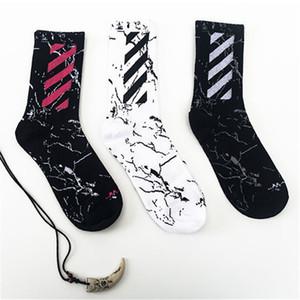 Calcetines para hombre de calidad superior con rayas impresas Algodón Calcetines transpirables Calcetines de moda salvaje para adolescentes Tamaños gratuitos