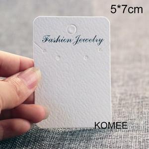 200pcs 5x7cm carta dell'orecchino della collana del supporto monili dell'orecchino Display Card Packaging collana collana carta per i monili