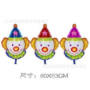Hüte Clown Head Aluminium Film Ballon Party Festival Feier Aktivität Dekoration Arrangement Group